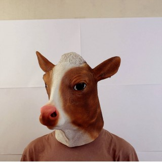 Маска коровы коричневая