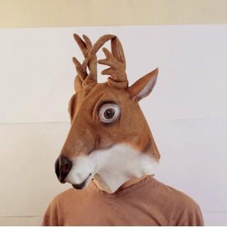 Маска оленя коричневая