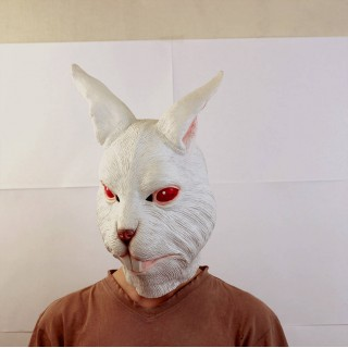 Маска зайца белая