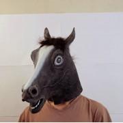 Маска лошади темная