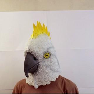 Маска попугая белая